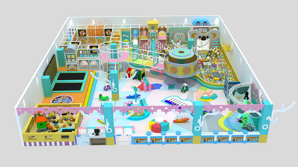 Macaron theme kids indoor playground children amus...