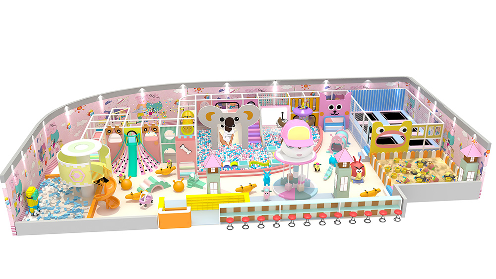 Kids entertainment indoor soft play equipment with Macaron theme