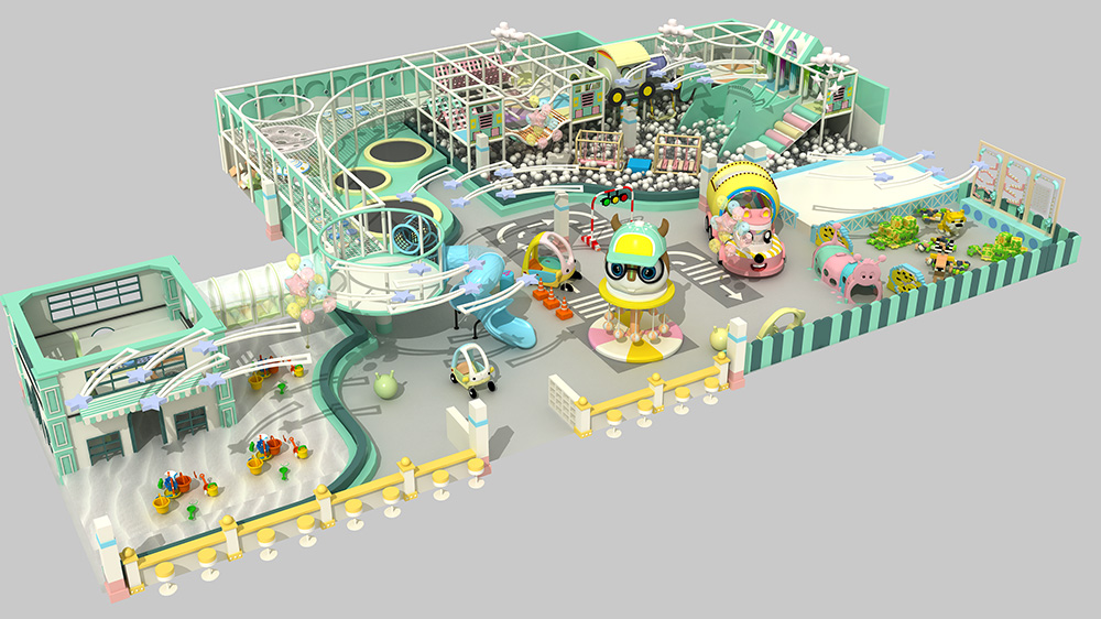Macaron theme indoor playground for kids soft play
