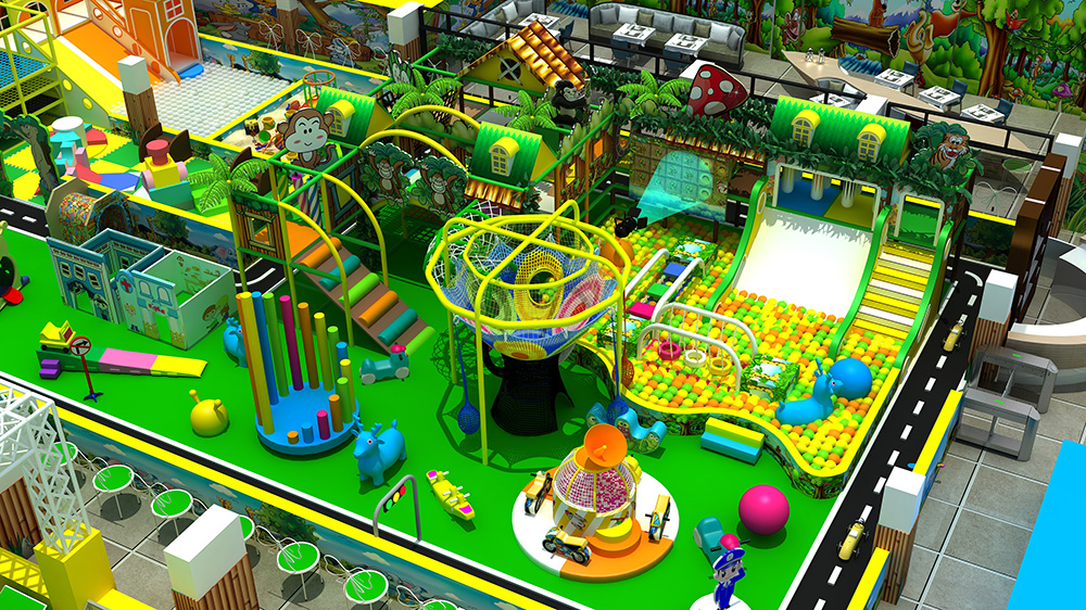 Cheap Jungle Theme Safety Indoor Playground
