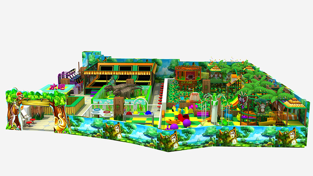 Kids favorite jungle theme indoor playground place for play